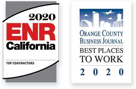 2020 ENR California - Top Contractors; Orange County Business Journal - Best Places to Work, 2020